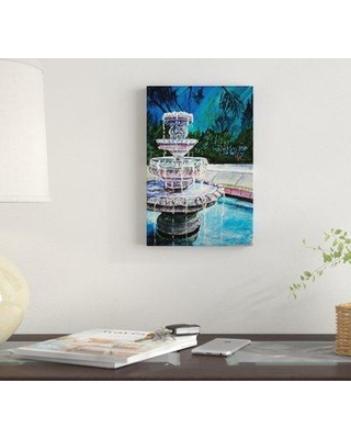 "East Urban Home 'Water Fountain II' Graphic Art Print on Canvas EBHV1965 Size: 18"" H x 12"" W x 0.75"" D"