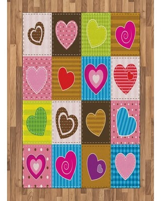 """Pink Area Rug East Urban Home Rug Size: Rectangle 4' x 5'8"""""""