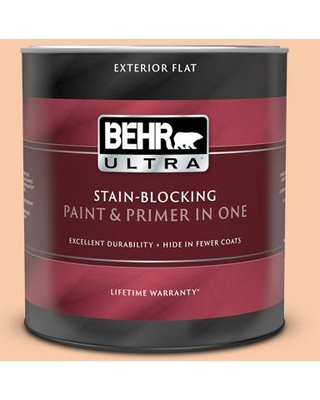 BEHR ULTRA 1 Qt. #270C-3 Coral Confection Flat Exterior Paint and Primer in One