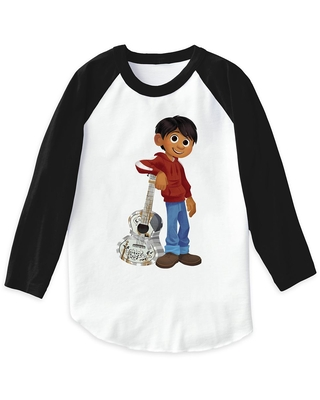Miguel Playing Guitar Raglan T-Shirt for Boys Coco Customizable Official shopDisney
