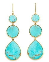 Ippolita 18K Yellow Gold Polished Rock Candy Drop Earrings in Turquoise