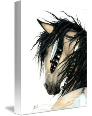 Foundry Select 'Tahalo Stallion Curly Horse' Graphic Art Print on Wrapped Canvas FNDS1500