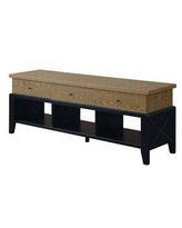 """Newport Yorktown TV Stand for TVs up to 65"""" Driftwood/Black - Breighton Home"""