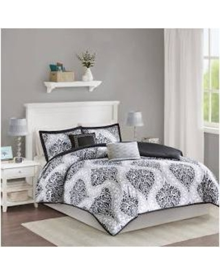 Waterfall Comforter Set Grey Twintwin Xl Intelligent Design Id10
