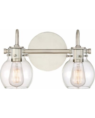 """Quoizel Andrews 9"""" High Antique Nickel Wall Sconce"""