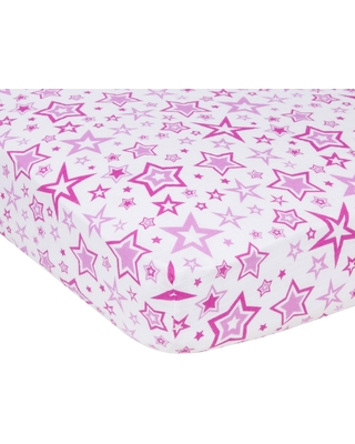 MiracleWare Orchid Stars Muslin Crib Sheet Purple Orchid