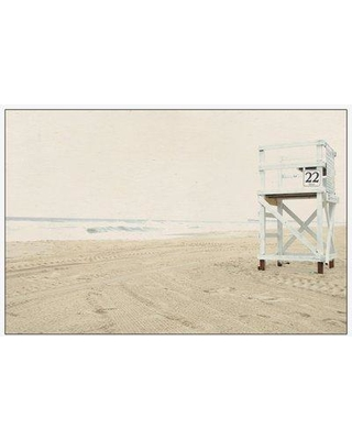 """Rosecliff Heights 'Number 22' Framed Photographic Print on Canvas ROHE6917 Size: 16"""" H x 24"""" W"""