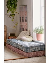 Rohini Textured Daybed Cushion - Blue One Size at Urban Outfitters