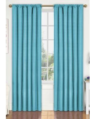 Eclipse™ Turquoise Kendall Blackout Window Curtain Panel