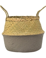 Seagrass Basket with Handles - Natural/Gray (13) - 3R Studios