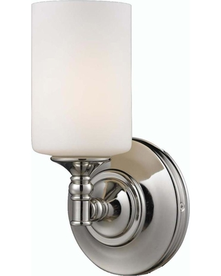 Filament Design Lawrence 1-Light Wall Chrome and Matte Opal Incandescent Sconce