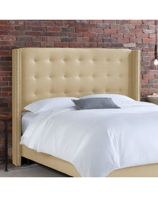 Willa Arlo Interiors Doleman Wood Frame Upholstered Wingback Headboard WRLO6640 Size: Full Color: Sandstone