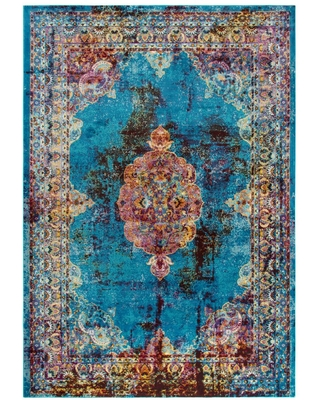 Big Deal On Riztex Usa Morocco Blue 7 Ft 6 In X 9 Ft 5 In Persian Area Rug