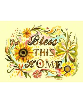 """Oopsy Daisy Bless This Home Framed Painting Print NB4 Size: 24"""" H x 30"""" W x 1.5"""" D"""