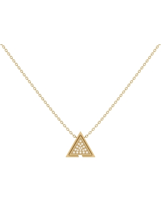 LMJ - Skyscraper Triangle Necklace In 14 Kt Yellow Gold Vermeil On Sterling Silver
