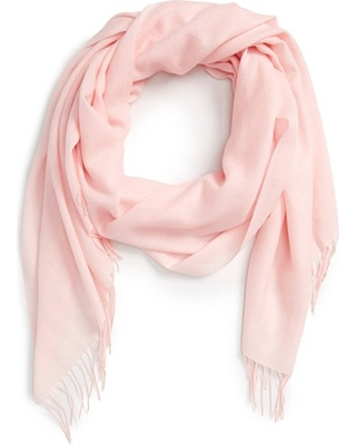 Women's Nordstrom Tissue Weight Wool & Cashmere Scarf, Size One Size - Pink