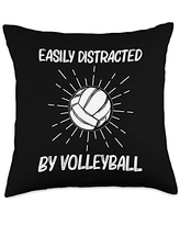 Best Volleyball Team Captain Ball Lovers Cool Volleyball Gift For Men Women Player Indoor Beach Sport Throw Pillow, 18x18, Multicolor