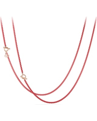 Women's David Yurman Dy Bel Aire Chain Necklace With 14K Gold Accents