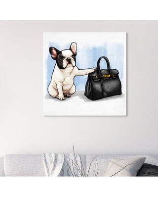 "Art Remedy Dogs and Puppies 'The Clear Choice Square' Graphic Art Print on Wrapped Canvas 25008_XHD Size: 30"" H x 30"" W x 1.5"" D"