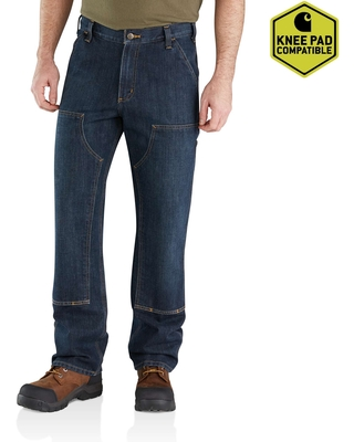 Relaxed Fit Holter Double-Front Dungaree Jean