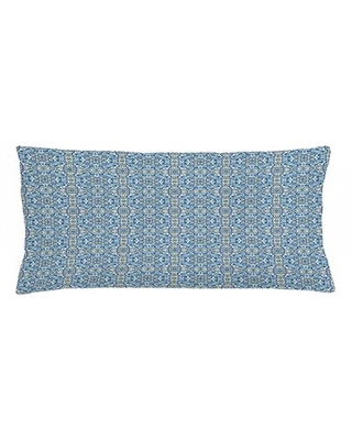 "Indoor / Outdoor Lumbar Pillow Cover East Urban Home Size: 16"" x 36"""
