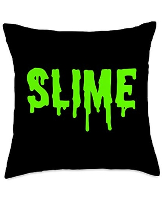 Slime Gear Green Slime Throw Pillow, 18x18, Multicolor