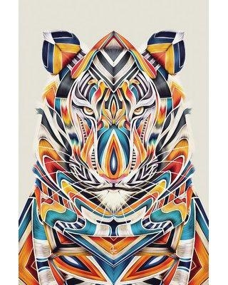 "East Urban Home 'Tyler' Graphic Art on Wrapped Canvas ESTN7013 Size: 60"" H x 40"" W x 1.5"" D"