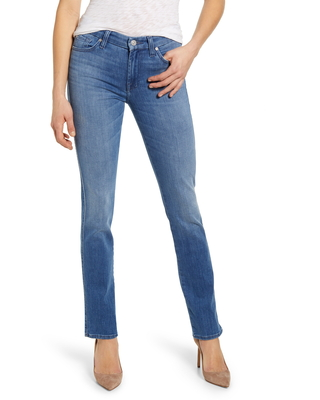 Women's 7 For All Mankind Kimmie Straight Leg Jeans, Size 25 - Blue