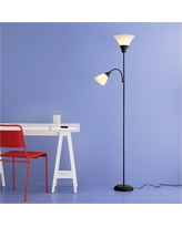 Torchiere Floor Lamp with Task Light Ebony - Room Essentials