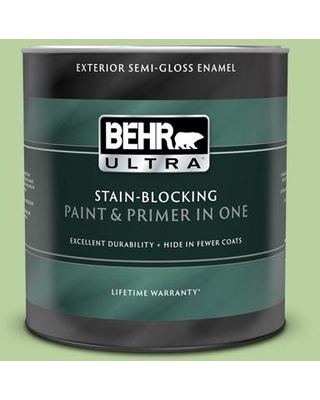 BEHR ULTRA 1 qt. #P380-4 Four Leaf Clover Semi-Gloss Enamel Exterior Paint and Primer in One