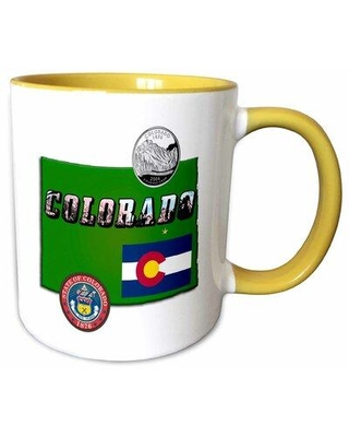 Latitude Run Liburna State Map Picture Text Seal Flag Coffee Mug X111026147 Theme: Colorado