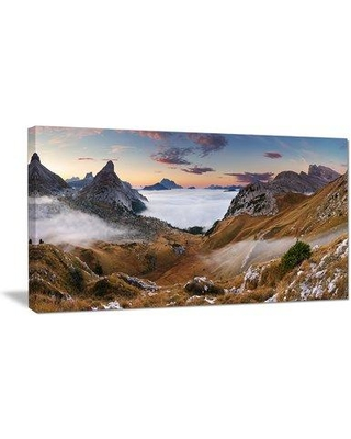 """DesignArt 'Beautiful Summer Panorama' Photographic Print on Wrapped Canvas PT15398- Size: 16"""" H x 32"""" W x 1"""" D"""