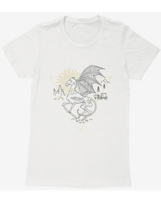 Harry Potter Thestral Outline Womens T-Shirt