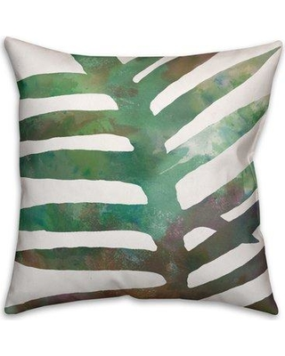 "Bay Isle Home Palm Cove Watercolor Fern Throw Pillow BYIL1026 Size: 20"" x 20"""