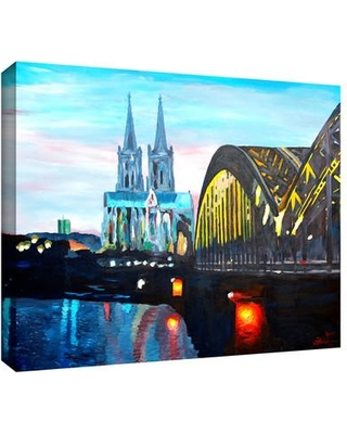 "ArtWall 'Cologne' by Martina and Markus Bleichner Painting Print on Wrapped Canvas artshop-046-14x18-w Size: 18"" H x 24"" W"