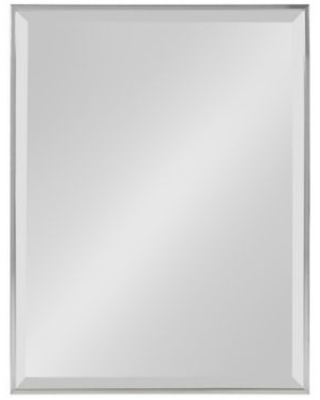 """Kate And Laurel Rhodes 18.75"""" X 24.75"""" Rectangular Wall Mirror In Silver"""