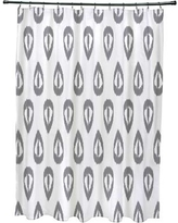 Mistana Bridgehampton Ikat Tears Geometric Print Shower Curtain MTNA2891 Color: Gray