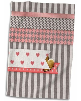 Discover Deals On Boughton Heart Tucked Under Heart Dots Stripes Houndstooth Hand Towel East Urban Home