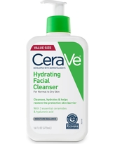 CeraVe Hydrating Facial Cleanser for Normal to Dry Skin, Fragrance Free - 16oz