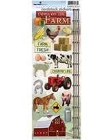 Paper House Productions STCX-0094E Cardstock Stickers, On the Farm (6-Pack)