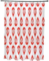 Mistana Bridgehampton Ikat Tears Geometric Print Shower Curtain MTNA2891 Color: Orange