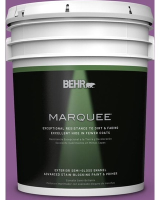 BEHR MARQUEE 5 gal. #P100-6 Chakra Semi-Gloss Enamel Exterior Paint and Primer in One
