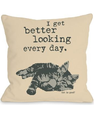 """One Bella Casa Better Looking Every Day Throw Pillow 73363PL16 / 73363PL18 Size: 18"""" H x 18"""" W x 3"""" D"""