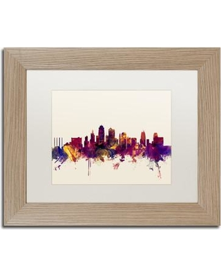 "Trademark Fine Art 'Kansas City Skyline' Framed Graphic Art MT0986-T1114MF / MT0986-T1620MF Size: 11"" H x 14"" W x 0.5"" D"