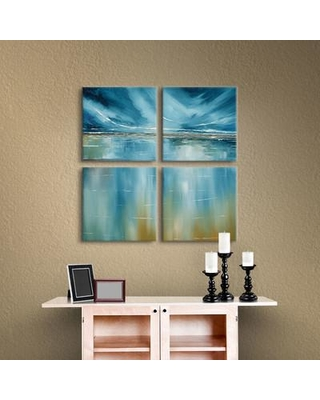 "Breakwater Bay Seascape 4 Piece Painting Print on Wrapped Canvas Set BRWT2148 Size: 36"" H x 36"" W x 2"" D"