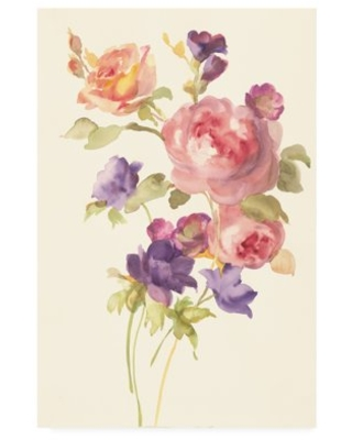 Trademark Fine Art 'Watercolor Flowers I' Canvas Art by Danhui Nai