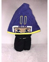 Purple and Yellow Football Player hooded towel kids