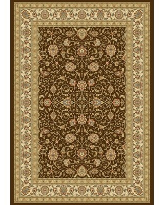 """Attell Oriental Chocolate/Ivory Area Rug Astoria Grand Rug Size: Rectangle 7'10"""" x 11'2"""""""