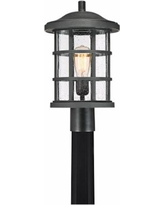 """Quoizel Crusade 17 1/4"""" Wide Earth Black Outdoor Post Light"""