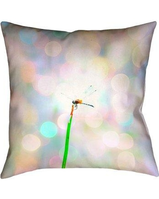 "Ivy Bronx Gemmill Dragonfly and Lights Double Sided Throw Pillow IVBX7927 Size: 18"" x 18"" Type: Throw Pillow Material: Suede"